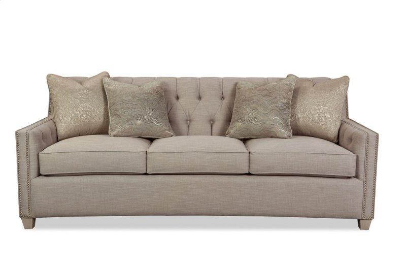 Tufted Sofa With Pewter Nailhead Trim