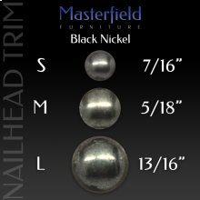 Black Nickel Nail Head Trim