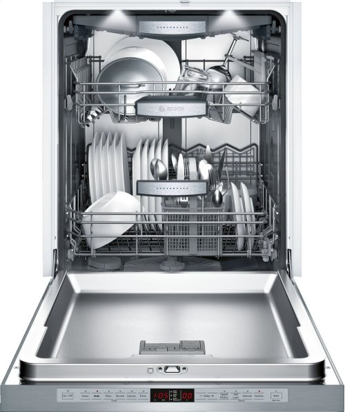 """24"""" Recessed Handle Dishwasher SHE9PT55UC Benchmark Series- Stainless steel"""
