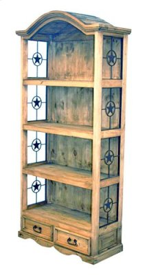 Bookcase W/metal Star