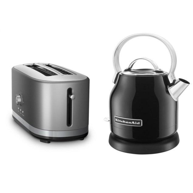 Kitchenaid Exclusive Breakfast Bundle (Toaster + Kettle) - Onyx Black