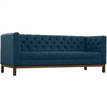 Panache Upholstered Fabric Sofa in Azure