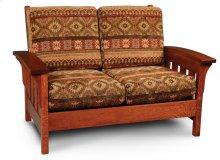 Morris Loveseat, Leather Cushion Seat