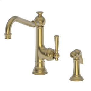 Satin Gold - PVD Single Handle Kitchen Faucet with Side Spray