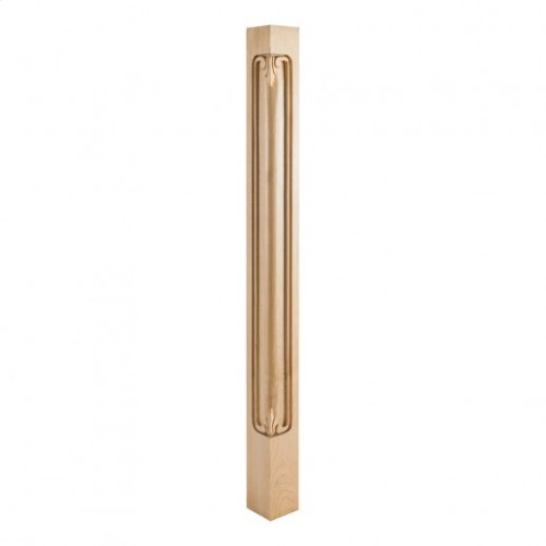"2-3/4"" x 2-3/4"" x 35-1/2"" Acanthus Corner Post, Species: Rubberwood"