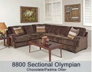 Olympian Chocola/Padma Otter 8800LFS - 8800 L/F Sectional Product Image