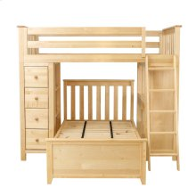 All in One Loft Bed Storage Study   Twin Bed Natural