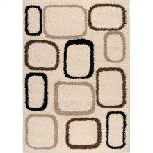 Shaggy 00059 Cream Brown Black 6 x 8