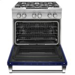 Kitchenaid 36'' 6-Burner Dual Fuel Freestanding Range, Commercial-Style - Cobalt Blue