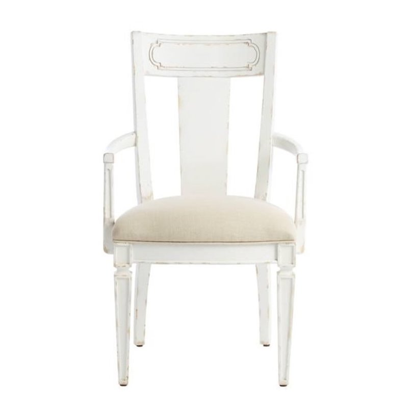 Juniper Dell Contemporary Arm Chair In 17th Century White
