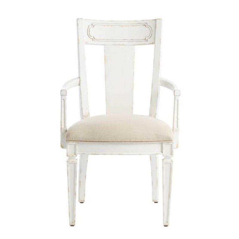 Juniper Dell Contemporary Arm Chair In 17th Century White