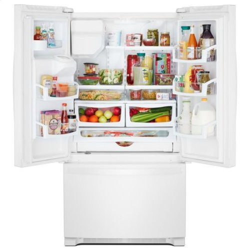 Whirlpool® 36-inch Wide French Door Refrigerator in Fingerprint-Resistant Stainless Steel - 25 cu. ft. - White