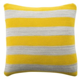 SUN KISSED KNIT PILLOW - Yellow / Light Grey / Natural