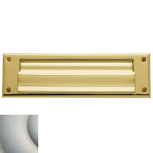 Satin Nickel with Lifetime Finish Letter Box Plates