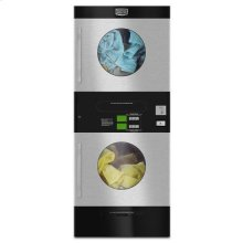 Maytag® Commercial Energy Advantage™ Multi-Load Stack Dryer - Stainless Steel