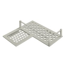 "Bathroom Basket HD Corner Left 9"" - Brushed Nickel"