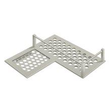 """Bathroom Basket HD Corner Left 9"""" - Brushed Nickel"""