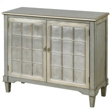 Asbury  44in X 16in X 38in  This two door console is made of veneers with contrasting wood doors.