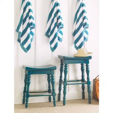 Retreat-5 O'Clock Somewhere Counter Stool in English Blue