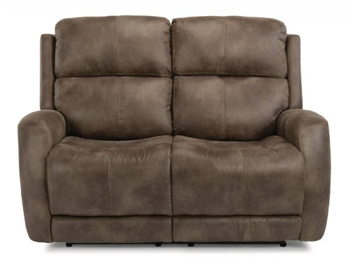 Zelda Fabric Power Reclining Loveseat with Power Headrests