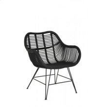 Chair 64x57x80 cm MALANG rattan black