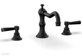 HENRI Deck Tub Set - Marble Lever Handles - 161-42 - Gloss Black