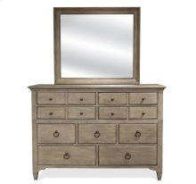 Myra Nine Drawer Dresser Natural finish