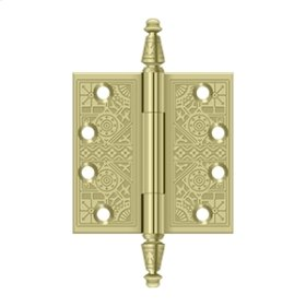 """4""""x 4"""" Square Hinges - Unlacquered Brass"""