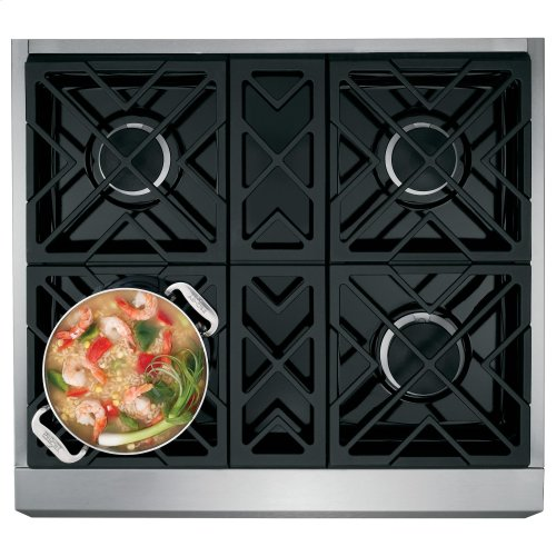 "Monogram 30"" All Gas Professional Range with 4 Burners (Natural Gas)"
