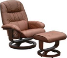 R-028 Mario Chestnut Leather Recliner