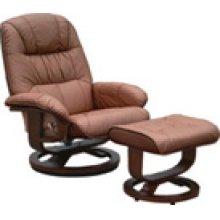 R-028 Mario Chestnut Leather Recliner