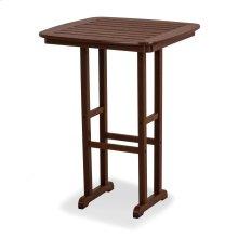 "Mahogany Nautical 31"" Bar Table"