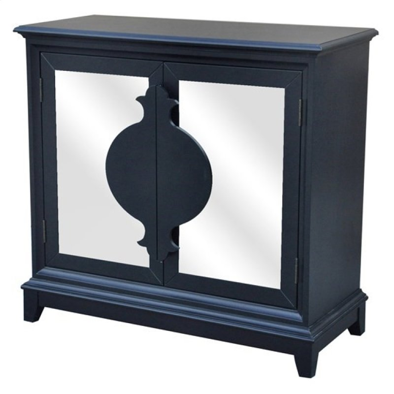 Xander Black 2 Door Antique Mirror Shaped Handle Cabinet - CVFZR3691 In By Crestview Collections In Cleveland, OH - Xander