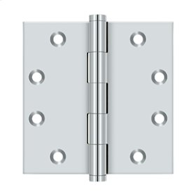 "4 1/2"" x 4 1/2"" Square Hinges - Polished Chrome"
