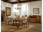 Rhone Table, 4 Chairs, and Bench Dining Set Product Image