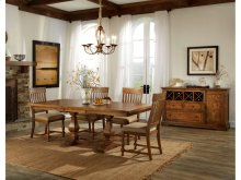 Rhone Table, 4 Chairs, and Bench Dining Set
