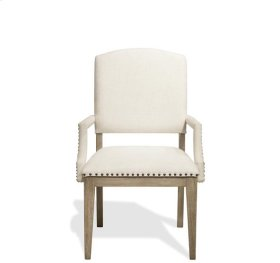 Myra Upholstered Arm Chair Natural finish