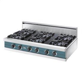 "Iridescent Blue 42"" Open Burner Rangetop - VGRT (42"" wide, six burners)"
