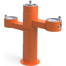 Elkay Outdoor Fountain Tri-Level Pedestal Non-Filtered, Non-Refrigerated Orange