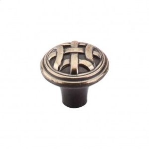 Celtic Small Knob 1 Inch - Dark Antique Brass
