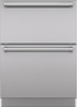 "Integrated Stainless Steel 24"" Drawer panels with Pro Handles"