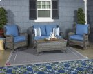 Patio Set 4 pc.Loveseat Glider w/Table & 2 Chairs -Durable Nuvella Product Image