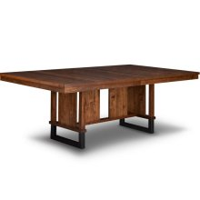 Cumberland 48x120 Solid Top Trestle Table