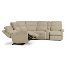 Davis Fabric Power Reclining Sectional with Power Headrests