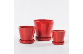 Tazza Planter with saucer - Set of 3