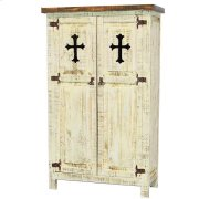 White 2 Door Cabinet W/Cross Product Image