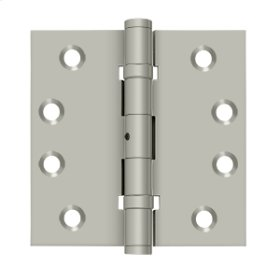 "4""x 4"" Square Hinges, Ball Bearings - Brushed Nickel"