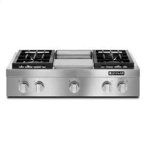 "Jenn-AirPro-Style® 36"" Gas Rangetop with Griddle"