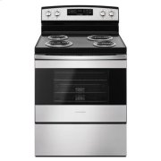 Amana® 30-inch Electric Range with Self-Clean Option - Black-on-Stainless Product Image