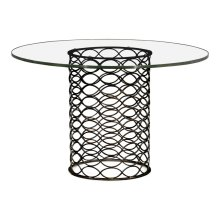"48"" Interlaced Bronze & Glass Dining Table"